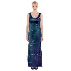 Constellations Maxi Thigh Split Dress