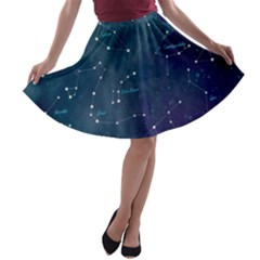 Constellations A Line Skater Skirt