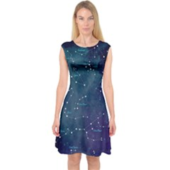 Constellations Capsleeve Midi Dress