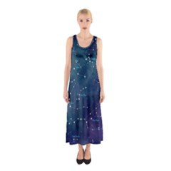 Constellations Sleeveless Maxi Dress
