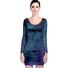 Constellations Long Sleeve Bodycon Dress