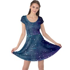 Constellations Cap Sleeve Dress