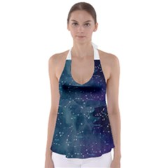 Constellations Babydoll Tankini Top