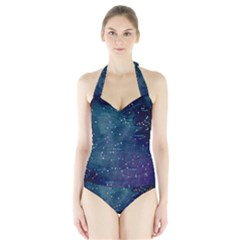 Constellations Halter Swimsuit