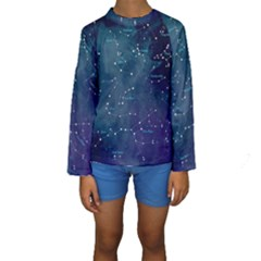 Constellations Kid s Long Sleeve Swimwear