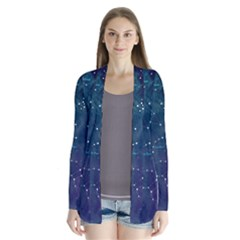 Constellations Drape Collar Cardigan by DanaeStudio
