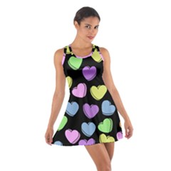 Valentine s Hearts Cotton Racerback Dress by BubbSnugg