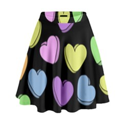 Valentine s Hearts High Waist Skirt by BubbSnugg