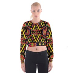 TIME SPACE Women s Cropped Sweatshirt by MRTACPANS