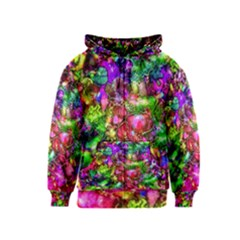 Pink Floral Abstract Kids  Zipper Hoodie by KirstenStar