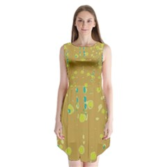 Digital Art Sleeveless Chiffon Dress