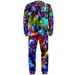 Blue Floral Abstract OnePiece Jumpsuit (Men)  by KirstenStar