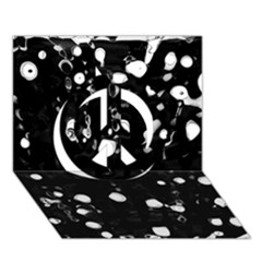 Black Dream  Peace Sign 3d Greeting Card (7x5) by Valentinaart