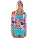 Anemones Women s Long Sleeve Hooded T-shirt