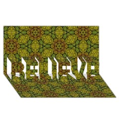 Camo Abstract Shell Pattern Believe 3d Greeting Card (8x4)