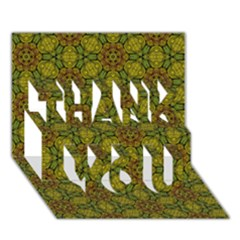 Camo Abstract Shell Pattern Thank You 3d Greeting Card (7x5) by TanyaDraws