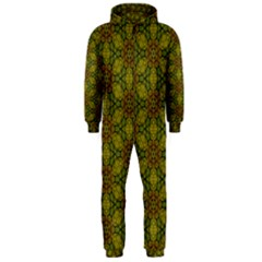 Camo Abstract Shell Pattern Hooded Jumpsuit (men)