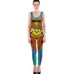 Flower Mice In Peace Balls Pop Art Onepiece Catsuit by pepitasart
