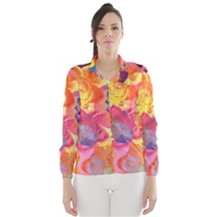 Pop Art Roses Wind Breaker (women)
