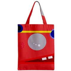 Cute Face Zipper Classic Tote Bag