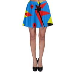 Clock Skater Skirt by Valentinaart