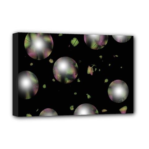 Silver Balls Deluxe Canvas 18  X 12   by Valentinaart