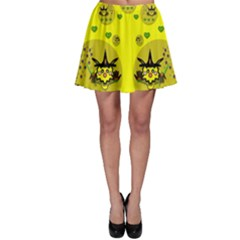 Wizard Mice In Fairy Dust Popart Skater Skirt by pepitasart