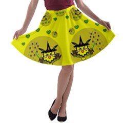 Wizard Mice In Fairy Dust Popart A Line Skater Skirt by pepitasart