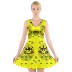 Wizard Mice In Fairy Dust Popart V Neck Sleeveless Skater Dress by pepitasart