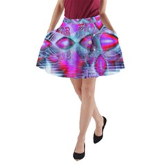 Crystal Northern Lights Palace, Abstract Ice  A Line Pocket Skirt by DianeClancy