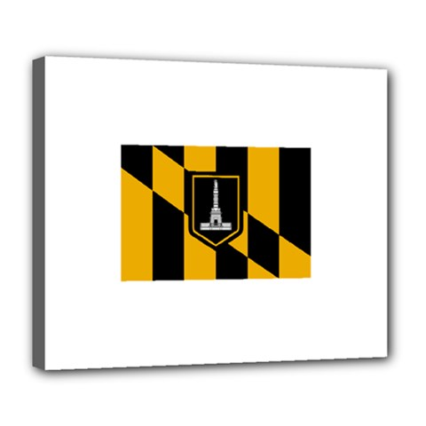 Flag Of Baltimore  Deluxe Canvas 24  X 20   by abbeyz71