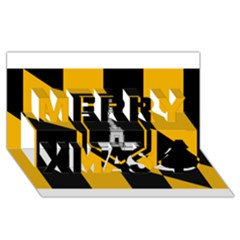 Flag Of Baltimore  Merry Xmas 3d Greeting Card (8x4)