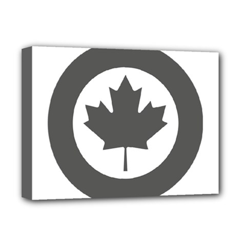 Low Visibility Roundel of the Royal Canadian Air Force Deluxe Canvas 16  x 12   by abbeyz71