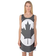 Low Visibility Roundel Of The Royal Canadian Air Force Sleeveless Satin Nightdress
