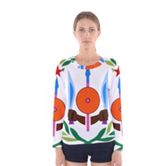 National Emblem Of Djibouti  Women s Long Sleeve Tee