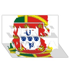 Flag Map Of Portugal Merry Xmas 3d Greeting Card (8x4)