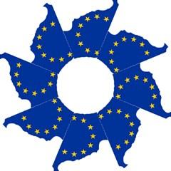 European Flag Map Of Cyprus  Straight Umbrellas by abbeyz71