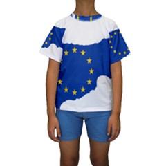 European Flag Map Of Cyprus  Kid s Short Sleeve Swimwear by abbeyz71