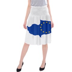 European Flag Map Of Cyprus  Midi Beach Skirt by abbeyz71