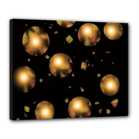 Golden Balls Canvas 20  X 16  by Valentinaart