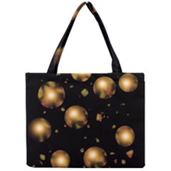 Golden Balls Mini Tote Bag by Valentinaart
