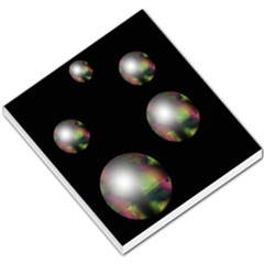 Silver Pearls Small Memo Pads by Valentinaart