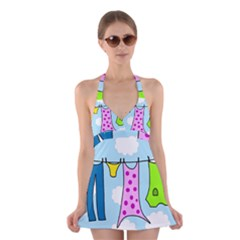 Laundry Halter Swimsuit Dress by Valentinaart