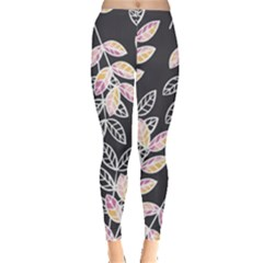 Winter Foliage Leggings  by DanaeStudio