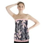 Winter Foliage Strapless Top
