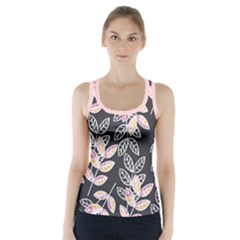 Winter Foliage Racer Back Sports Top