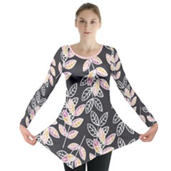 Winter Foliage Long Sleeve Tunic
