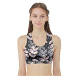 Winter Foliage Sports Bra with Border
