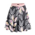 Winter Foliage High Waist Skirt