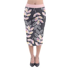 Winter Foliage Midi Pencil Skirt